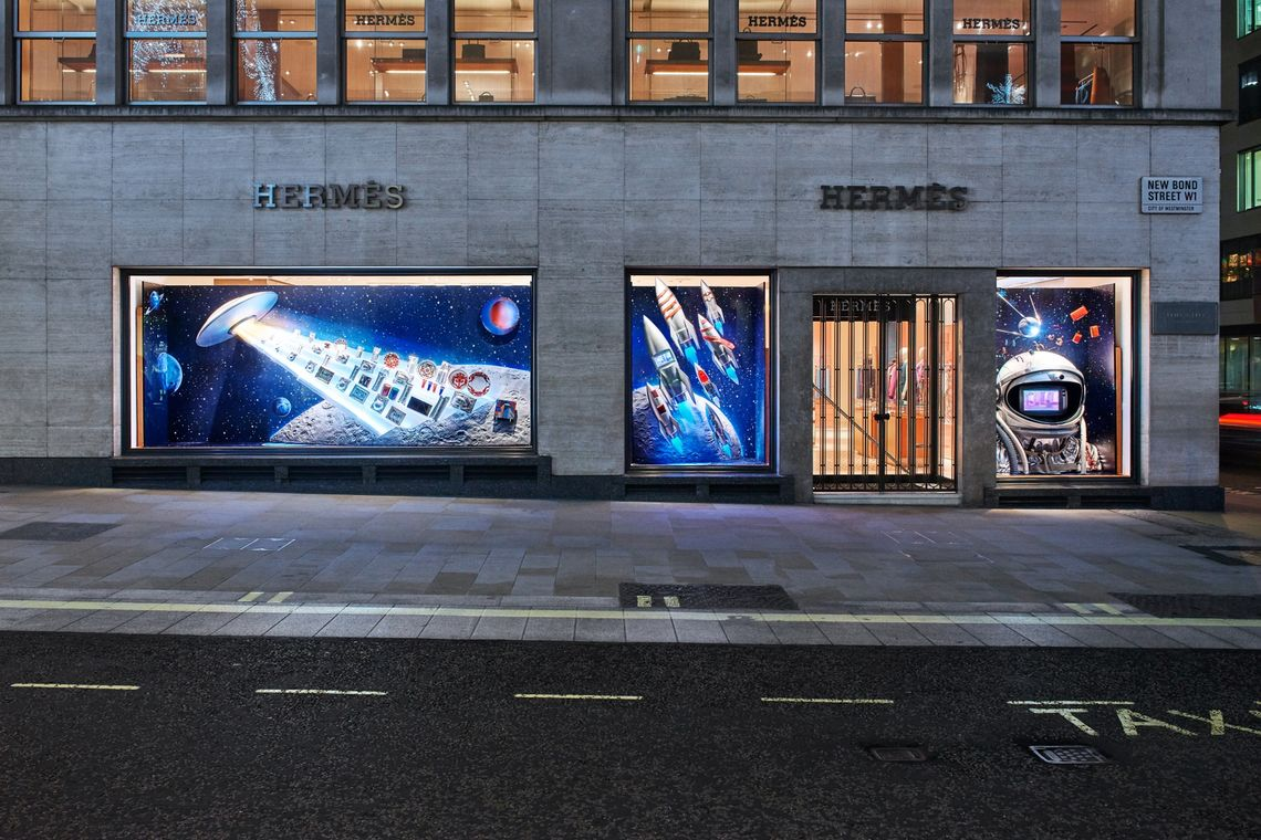 Hermes Bond Street Christmas Windows